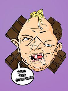 Ilustração Sloth quer chocolate.