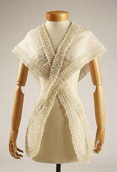 Fichu  Date mid-19th century  Culture:American or European  Medium: cotton