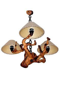 Selous Rustic Lodge Abstract Driftwood 3 Light Chandelier - Driftwood 4 Us Cabin Chandelier, Driftwood Chandelier, 3 Light Chandelier, Branch Decor, Rustic Lamps, Wooden Lamp, Wood Creations, Creative Decor, Cool Lighting