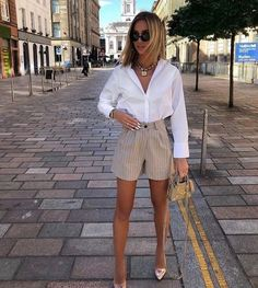 Cute Casual Outfits, Short Outfits, Stylish Outfits, Spring Outfits, Classy Chic Outfits, Casual Jeans, Best Outfits, Best Summer Outfits, Classy Shorts Outfits
