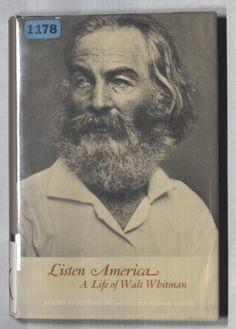 Listen America, A Life of Walt Whitman  by Adrien Stoutenburg and   Laura Nelson Baker  Cover by Jean Krulis (1968)