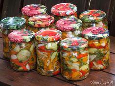 Sałatka sycylijska Fresh Rolls, Preserves, Pickles, Calzone, Mason Jars, Salads, Chutney, Food And Drink, Healthy Recipes