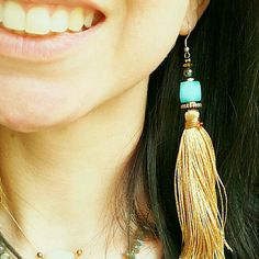 summer is here lady!wear your bold silk tassel earrings and shine!