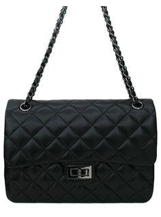 Sheep Black Leather Bag