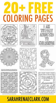 Free adult coloring pages! Get free adult coloring pages and printables from Coloring Pages For Grown Ups, Printable Adult Coloring Pages, Coloring Book Pages, Coloring Pages For Kids, Kids Coloring, Coloring Sheets, Art Projects For Adults, Craft Projects, Just For You