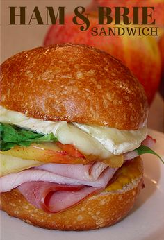 Gourmet Ham and Brie Sandwich (with Carmelized Apples)  YUM!!