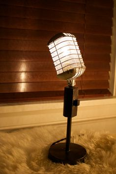 Buy Vintage Microphone Light Fixture by industrialighting. Explore more products on http://industrialighting.etsy.com