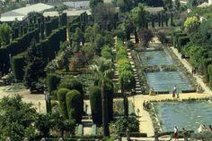 Splendidi giardini di Alcazar a Cordoba
