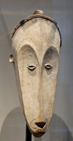 Fang mask used for the ngil ceremony, an inquisitorial search for sorcerers - Gabon, 19th century, collection of André Lefèvre deposited to Louvre Museum by Muséum national d'histoire naturelle-Musée de l'Homme; Source/PhotographerMarie-Lan Nguyen (2006)