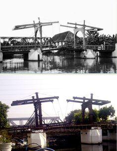Dubbele ophaalbrug over de Kali Besar te Batavia circa 1936, ,., Jembatan Angkat Ganda Kota Intan, jl Kali Besar, Jakarta, 2012