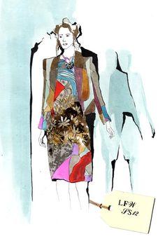June Sees: Illustration: Amelia's Magazine: Basso & Brooke Fashion Sketches, Princess Zelda, Drawings, Illustration Art, June, Designers, Fashion Design, Fictional Characters, Magazine