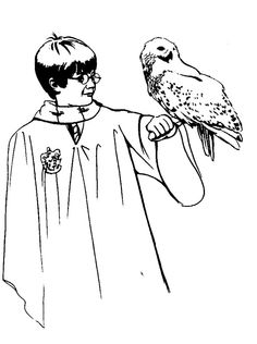 Harry Potter coloring page Wizarding World Pinterest Harry