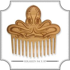 The Bearded Gents Shop Awesome laser cut beard comb to tackle those unruly beards.