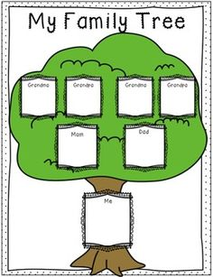 Preschool family tree template family tree template for Preschool family tree template