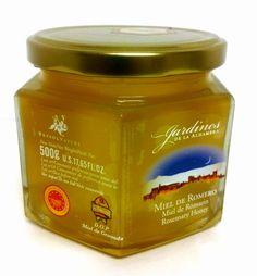 #Miel de romero de gran pureza y calidad Jardines de la Alhambra. En envase de 500 grs. Recolectada y con la garantía de la D. O. Miel de #Granada. En www.laorzaiberica.com