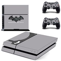 Batman Arkham Knight - PS4 Designer Skin for Sony PlayStation 4 Console System plus Two(2) Decals for: PS4 Dualshock Controller