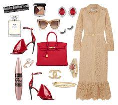 """London fashion week"" by dalal10 on Polyvore featuring Ganni, Yves Saint Laurent, Hermès, Rolex, Saks Fifth Avenue, David Yurman, Chanel, Thierry Lasry, Allurez and Maybelline"