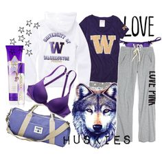 """Pink- University of Washington"" by foreverkaitlyn on Polyvore"