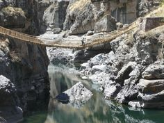 Atlas Obscura co-founder Dylan Thuras takes a walk on Keshwa Chaca, the last remaining Incan rope bridge in Peru.