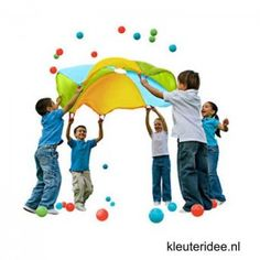 Gymles voor kleuters met parachute 1, kleuteridee.nl