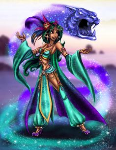 Jasmine [as Final Fantasy feat. Rajah] (As Video Games by Ai-Don @deviantART) #Aladdin #FinalFantasy