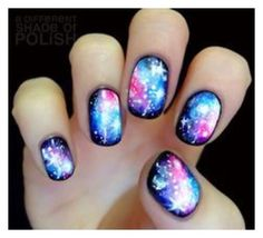 Image viaCheck out this gallery of galaxy nail art if you need inspiration for your next manicure!Image viaSimple, Realistic Galaxy Nails Tutorial, featuring JINsoon Obsidian - This is Fancy Nails, Diy Nails, Cute Nails, Pretty Nails, Pedicure Nails, Toenails, Cute Nail Designs, Nail Designs Spring, Diy Ongles
