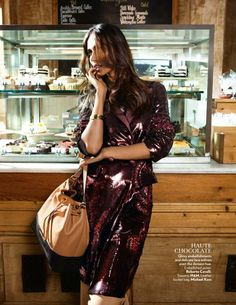 """Coffee With a Side of Cream"" Ujjwala Raut for Vogue India November 2015"