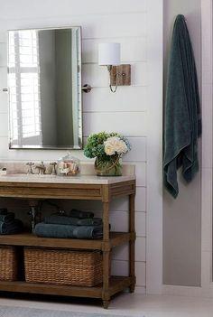 This Is Montaigne Oak Bathroom Vanity For $469   A Dead Ringer For  Restoration Hardwareu0027s More Expensive Washstand. | Home Sweet Home |  Pinterest | Oak ...