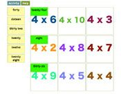 Free educational interactive Primary or Elementary multiplication maths games and resources Math Multiplication Games, Math Games, Maths, Times Tables Games, Homeschool, Chart, Homeschooling