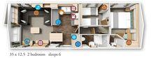 Willerby Granada 2016 35x12.5-2bed floor plan
