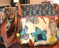 FOSSIL Keyper Floral Coated Canvas Leather Trim Cross Body Purse #Fossil #CrossBody