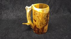 Check out this item in my Etsy shop https://www.etsy.com/listing/255767935/wooden-beer-mug-beer-mug-beer-stein-sca