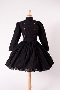 7dd5b3c4b7b9a Steampunk Steam Punk Military Dress Gothic Goth Lolita Black Dress   Gears  Womens Cosplay Costume Custom Size including Plus Sizes