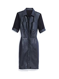 #leather #mixed #media #dress #fall #fashion #maxxinista