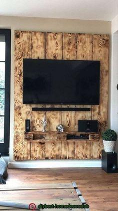 House decor - racks para tv de paletes, arte com paletes, sof Home Design Decor, Diy Home Decor, House Design, Decor Crafts, Living Room Wall Units, Living Room Designs, Living Rooms, Wooden Pallet Furniture, Diy Furniture