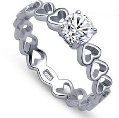 Super cute sterling silver ring that will make any girl feel special.