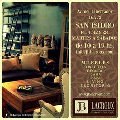 Vení a conocer nuestro nuevo local! #jblacroux #decor #architecture #furniture #homedecor #muebles #diseño #decoración