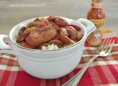 30 Minute Red Beans and Rice-dinner on the table in 30 minutes.