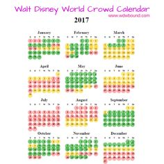 2017 Walt Disney World Crowd Calendar