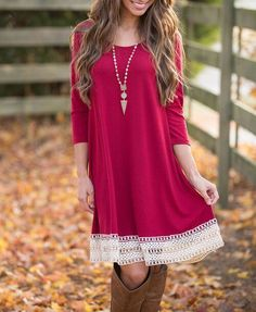 Red Patchwork Dress - This dress is very versatile. It looks cute in the summer, but can also be worn in the fall with a cute pair of boot and a cardigan!