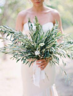 Olive branch bouquet: http://www.stylemepretty.com/2015/05/14/romantic-minimalism-wedding-inspiration/ | Photography: Kurt Boomer - http://www.kurtboomer.com/