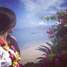 These views are breathtaking! #mariaandphil #honeymoon #lemeridien #tahiti #moorea