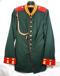 Uniformjacke oder Waffenrock für Mannschaften des Garde-Jäger-Bataillons, 3. Kompanie,Preußen, um 1905 (Museum Weißenfels - Schloss Neu-Augustusburg CC BY-NC-SA)
