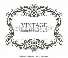 Vintage Frame. Ilustração Vetor Stock 8916640 : Shutterstock