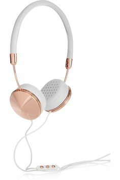 Technology never looked so cool. Frends sleek rose-gold headphones are the ideal gift for music-obsessed loved ones.