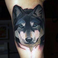 Geometrische 90 Wolf Tattoo Designs für Männer  Manly InkIdeen  Tattoos  Ideen