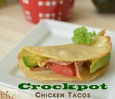 Super Easy Crockpot Chicken Tacos- For Super Healthy Kids