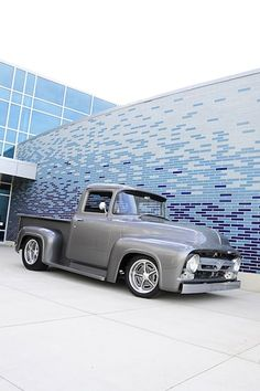 Polished Sterling and plenty of Classic Elements for this 1956 Ford Pickup - Hot Rod Network Ford 56, 1956 Ford Truck, Old Ford Trucks, Old Pickup Trucks, Diesel Trucks, 1954 Ford, Ford Diesel, Classic Pickup Trucks, Ford Classic Cars