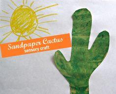Sand Paper Cactus Craft