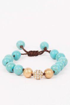 Bracelet - Turquoise & Gold